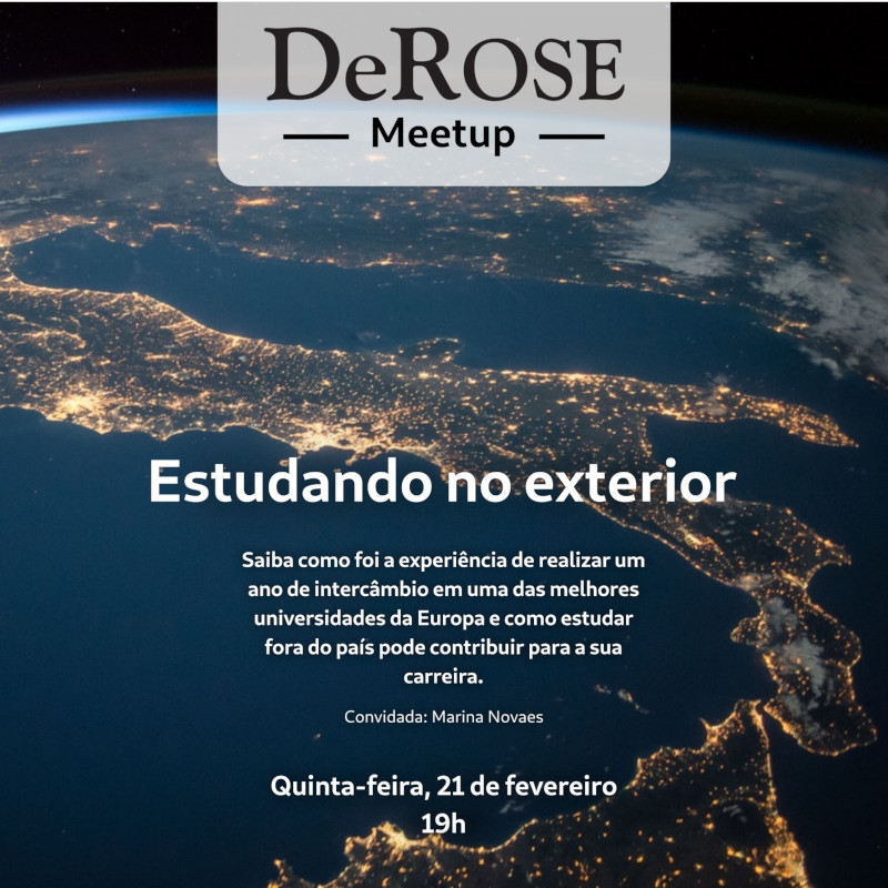 derose meetup - cartaz